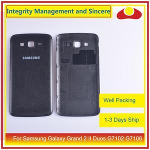 Image 1 - 10 pçs/lote para samsung galaxy grand 2 ii duos g7102 g7106 habitação porta da bateria traseira capa caso chassi escudo substituição