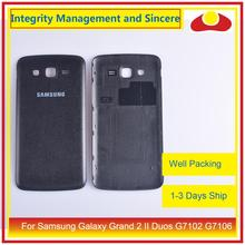10 pièces/lot pour Samsung Galaxy Grand 2 II Duos G7102 G7106 boîtier batterie porte arrière couverture arrière boîtier châssis coque remplacement