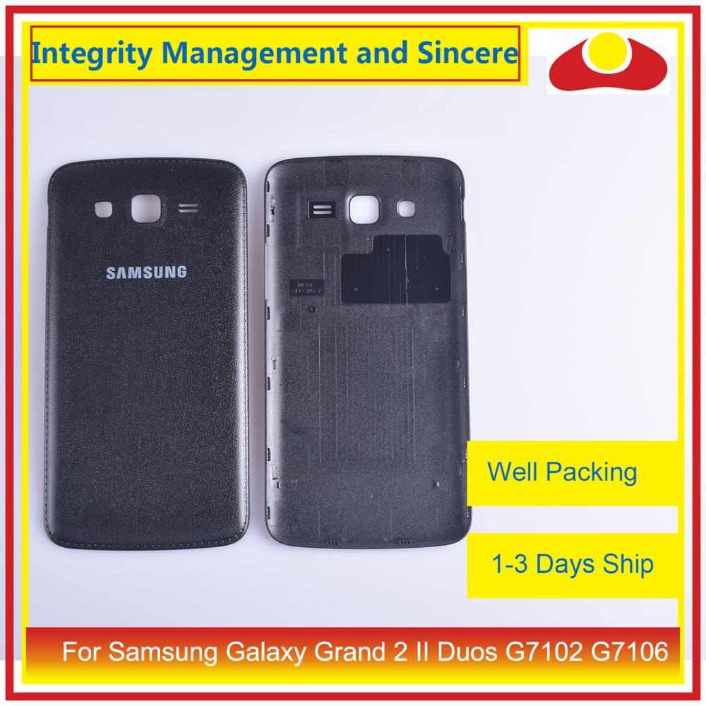 Original For Samsung Galaxy Grand 2 II Duos G7102 G7106 Housing Battery Door Rear Back Cover Case Chassis Shell Replacement image