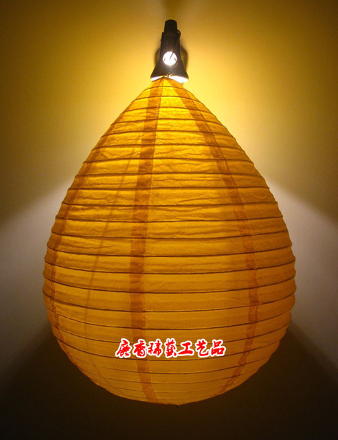 Teardrop shaped paper lantern chandelier shade art home hotel teardrop shaped paper lantern chandelier shade art home hotel restaurant is decorated in orange and aloadofball Image collections