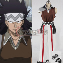 Free Shipping Custom Made Fairy Tail Cosplay Gajeel Reitfox Suit Costume