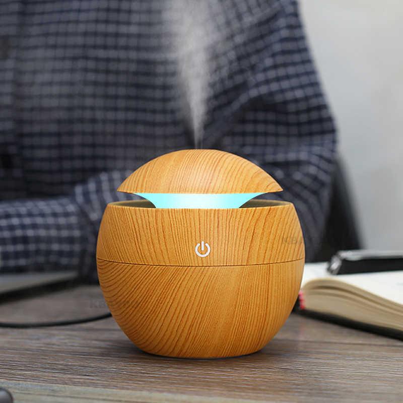 USB aromalı uçucu yağ difüzör ultrasonik serin hava nemlendiricisi hava temizleyici 7 renk değişimi LED gece lambası ofis ev için