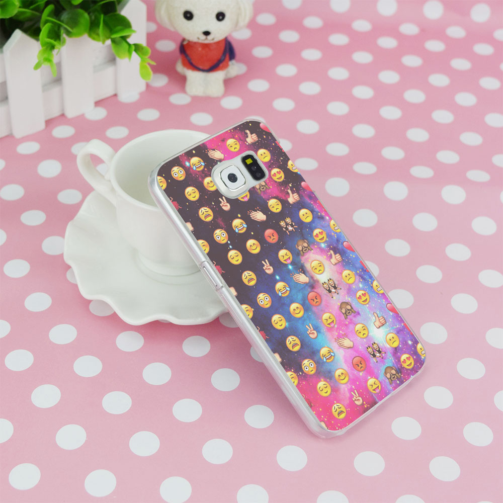 G269 Smile Face Emoji Transparent Hard PC Case Cover For Samsung Galaxy S 3 4 5 6 7 8 Mini Edge Plus Note 3 4 5 8