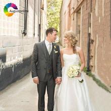 Серые свадебные костюмы для мужчин смокинги жениха лучший мужской