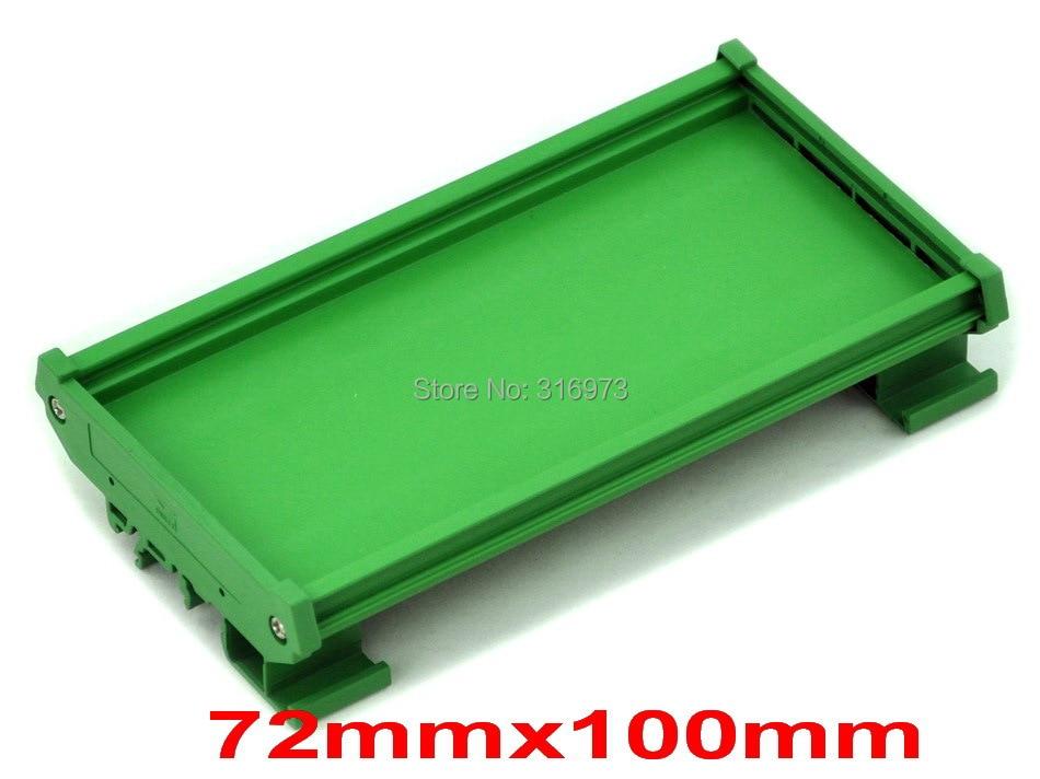 ( 50 Pcs/lot ) DIN Rail Mounting Carrier, For 72mm X 100mm PCB, Housing, Bracket.