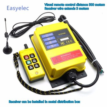 6 Channels Industrial wireless remote control F21-4S-Y crane switch single speed high speed Long distance 500 meter lift