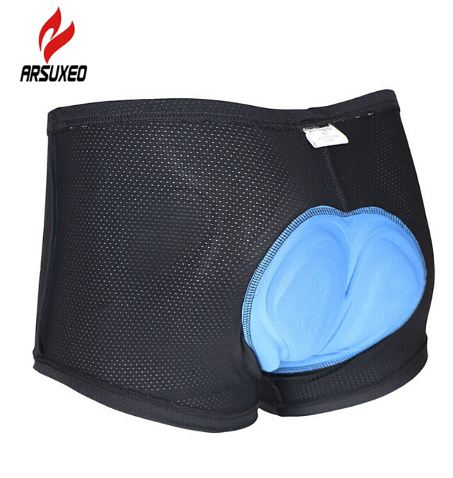 ARSUXEO Cycling Bike Bicycle Mountaion MTB Shorts Bib Underwear Undershorts Compression Tights Shorts 3D cool max padded.