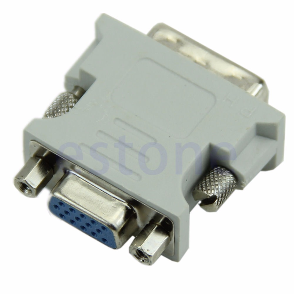 VGA 15 Pin PC Laptop Female 24+1 pin to DVI-D Male Adapter Converter LCD #K400Y# DropShip dvi 24 1 male to vga female adapter white 10 pcs