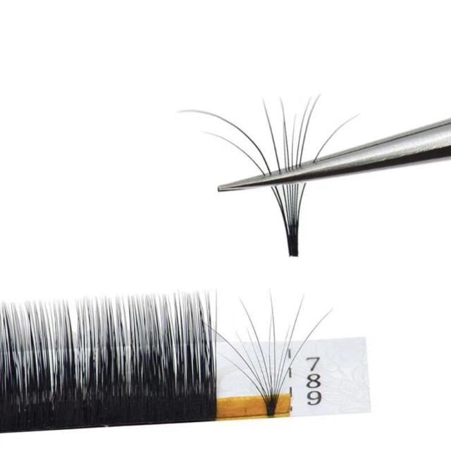 New arrived 0.05/0.07/0.10 C/D 1 pcs magic eyelash volume easy to make fan effect false eyelash and blooming faux mink lashes 4