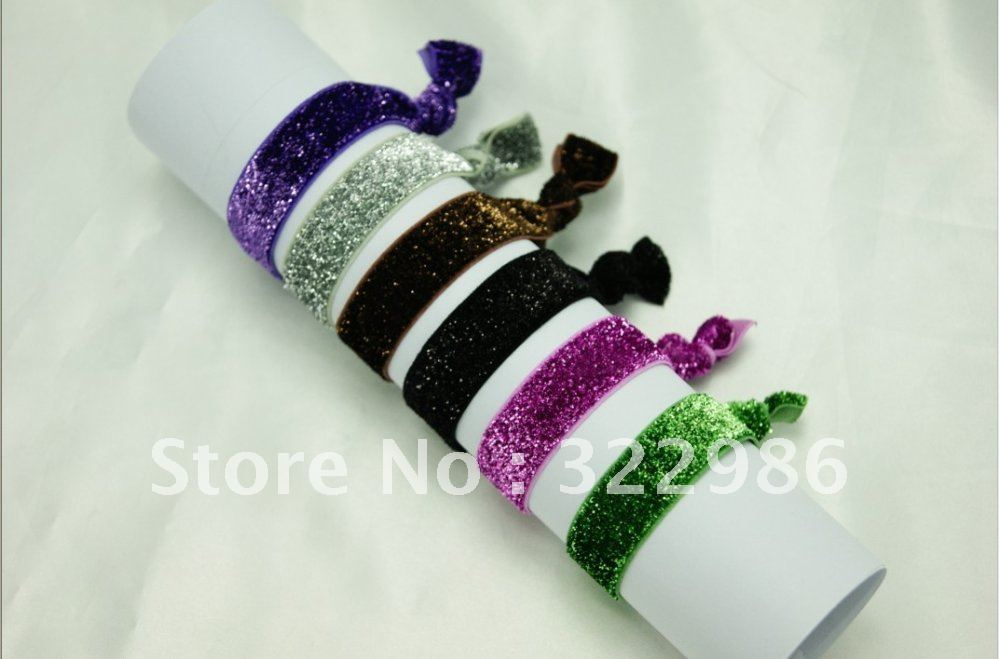 Shining Ponytail Hair TWIST TIES Care Bands FUNDRAISER Trendy elastic band hair  ties Twistband Hair