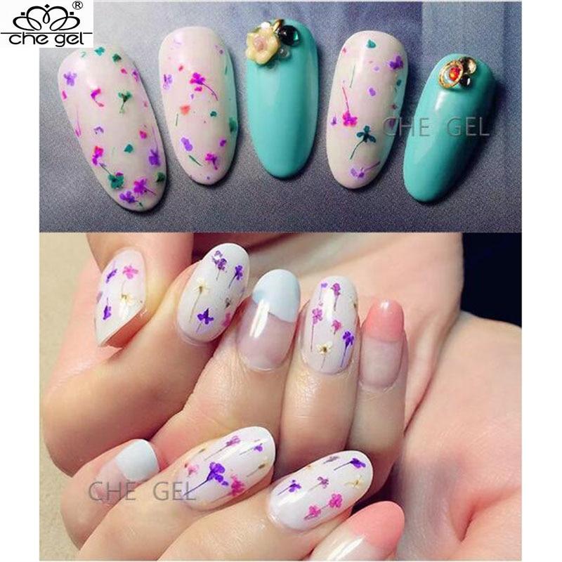 Luxury Flower Gel Nails Model - Nail Art Ideas - morihati.com