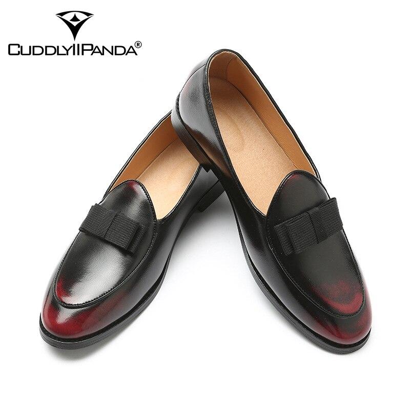 Cuir Hommes Sport Luxe Rouge Papillon Sur Grande De Sneakers Noeud Taille Mode Chaussures bronze vin Glissent En La Oisifs Cuddlyiipanda Marque Noir qS0W1t