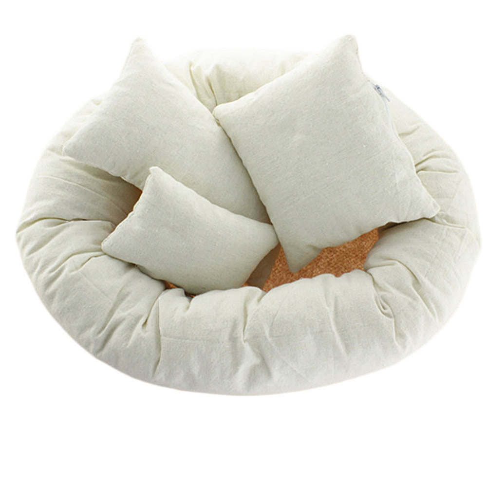 Newborn Photography Basket Filler Wheat Donut  Posing Props Baby Pillow