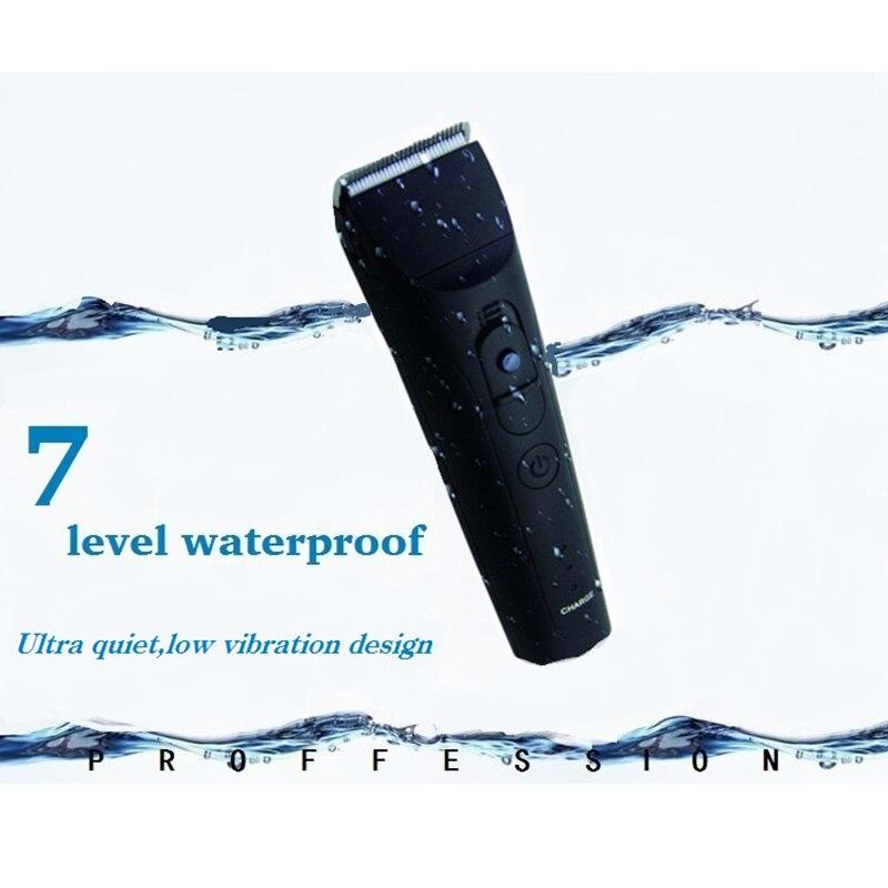 CHJ tondeuse tondeuse 7 niveaux étanche Rechargeable rasoir électrique 4 heures utilisation tondeuse à barbe Machine de découpe - 6