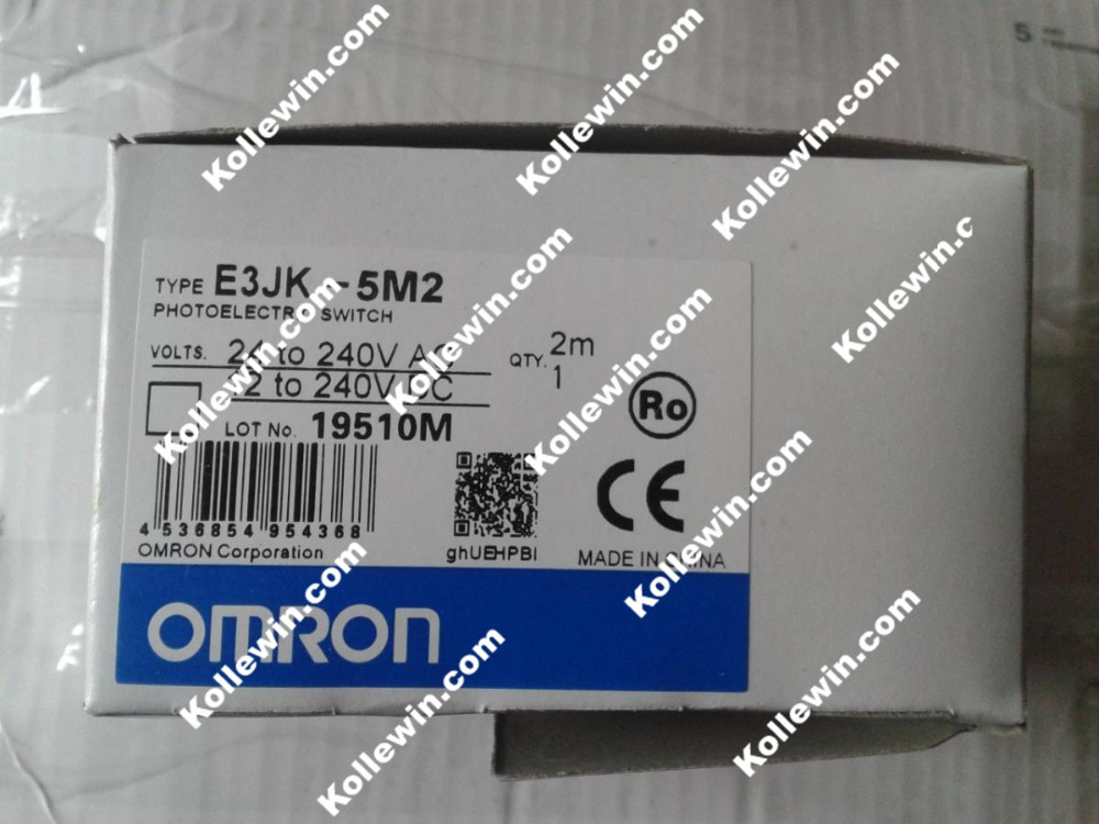 Free Shipping E3JK-5M2 Photoelectric Switch Sensor, 24-240VAC 12-240VDC, NEW E3JK5M2, New E3JK 5M2 in box dhl ems 10 sets for omron photoelectric switch sensor e3jk 5m2 e3jk5m2 new in box free shipping