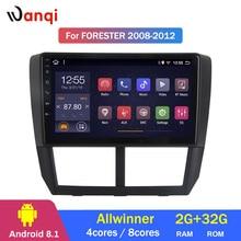 2G RAM 32G ROM Android 8,1 coche DVD reproductor Multimedia GPS para Subaru Forester 2008-2012 la radio estéreo navegación