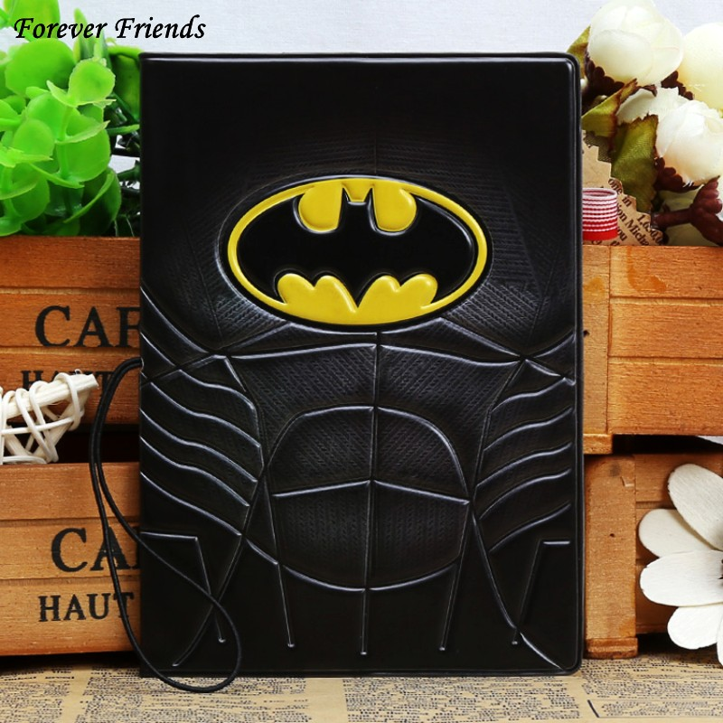 Marvel Super Hero Batman Batman multi feature board travel PVC three-dimensional voltage passport protection coverMarvel Super Hero Batman Batman multi feature board travel PVC three-dimensional voltage passport protection cover