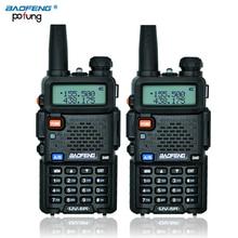 Ruso de valores 2 UNIDS Negro BaoFeng UV-5R walkie talkie transceptor CB de radio baofeng uv5r 5 W VHF UHF de Banda Dual de dos vías radio