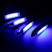 4 Adet kiralık oto Jant LED araba lastiği Işıkları Mavi Dış Atmosfer Lambaları Araba Tekerlek Dekore Araba-styling Evrensel