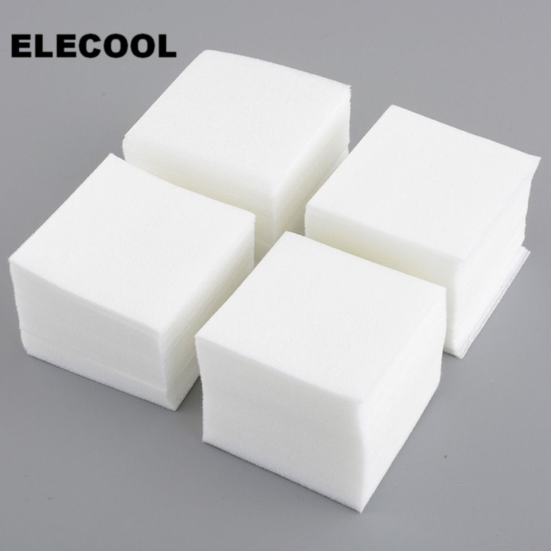 ELECOOL 900Pcs Manicure Nail Art Polish Remover Lint Free Cleaner Wipe Cotton Pads Paper