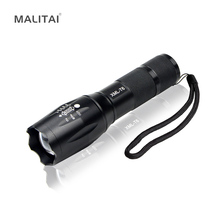 Waterproof Aluminum E17 CREE XML T6 3800LM Portable Lanterns 5 Modes Zoomable LED Flashlight For Outdoor Camping Torch lighting cheap Rechargeable Battery ROHS MALITAI 2 Years Ultra Brighter LED Bulbs Wedge