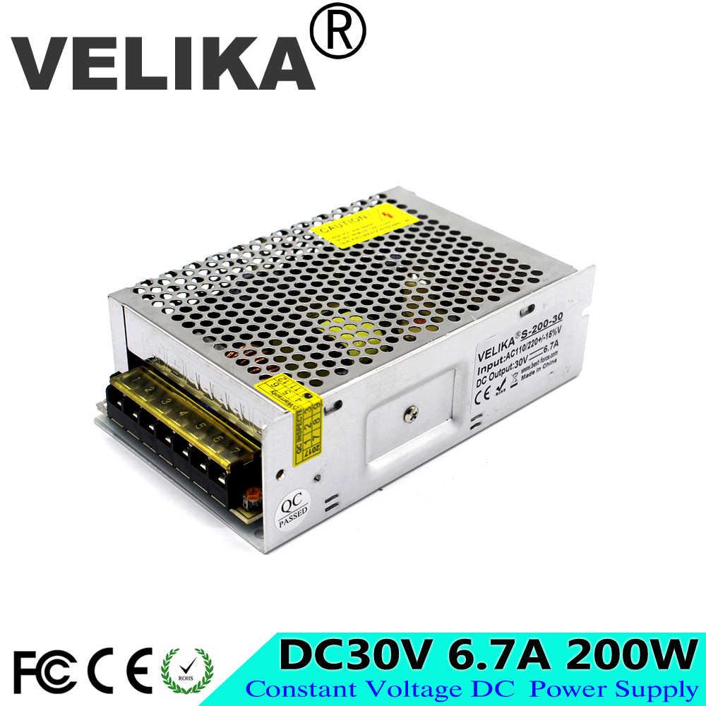 Универсальный 30 V 6.7A 200 w импульсный источник Питание для светодиодные лампы 110 В 220 В переменного тока до DC30V импульсивный источник питания Регулируемый переключатель Мощность расходные материалы