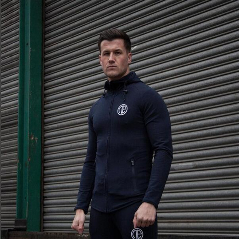 Autumn new bodyguard clothes mens long sleeve zipper coat and hooded clothes.