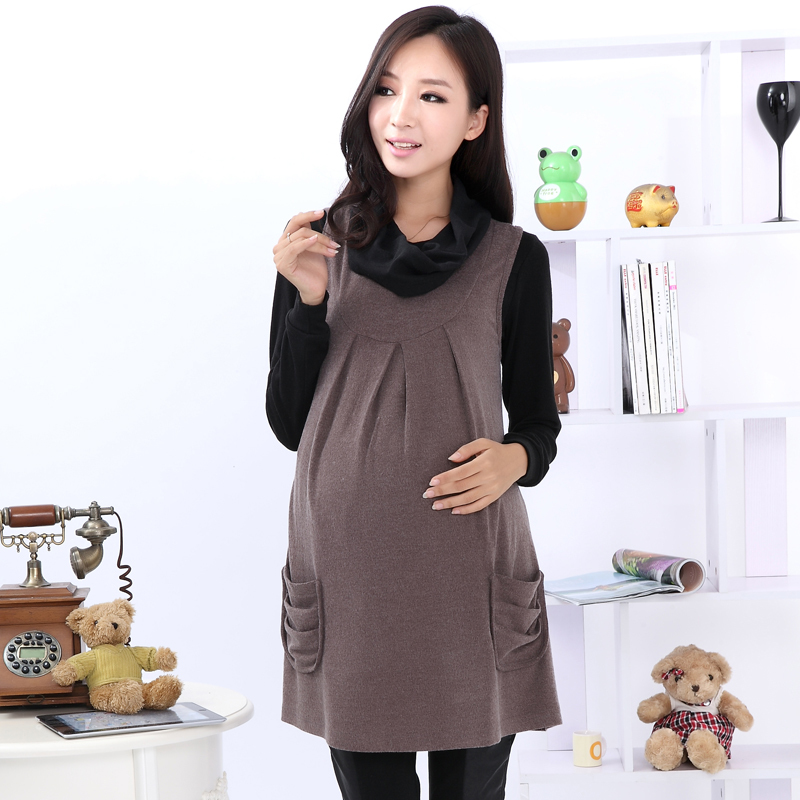 99796ab9863 2015 maternity dress women spring dresses woolen o neck nursing cloth  pregnant casual fashion sleeveless tank clothing A3ag-in Dresses from  Mother   Kids on ...