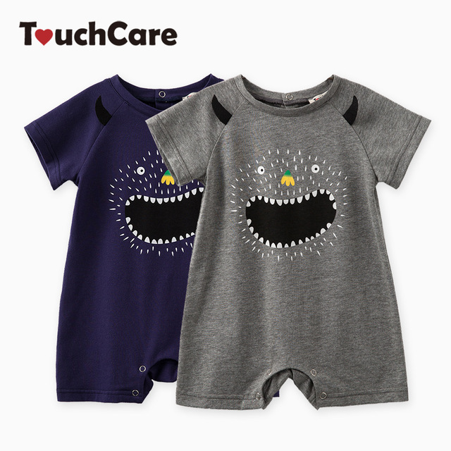 d92aed696 Clearance Newborn Little Monster Print Baby Boy Rompers Short Sleeve Infant  Jumpsuit Summer Baby Boy Clothes Baby Romper