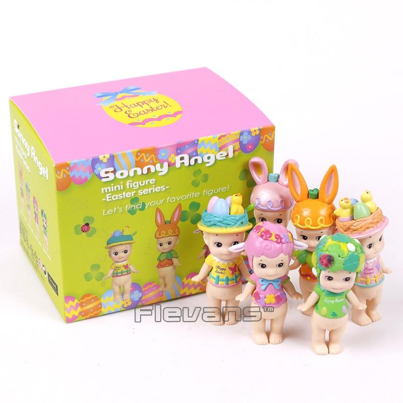 Sonny Angel 2017 Easter Series Mini PVC Figures Collectible Model Toys 8cm 6pcs/set sonny angel mini pvc figures animal series version 4 baby toys dolls 12pcs set 8cm dsfg352