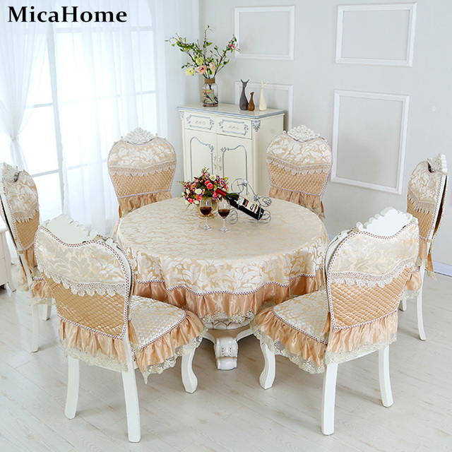 European Style Tablecloth Dining Room Chair Cover Cushion Rectangular Round Table Cloth
