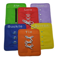Set Zip Baby Math Toys Button Snap Buckle Tie Lace Plate Kids Educational Toy Early Education