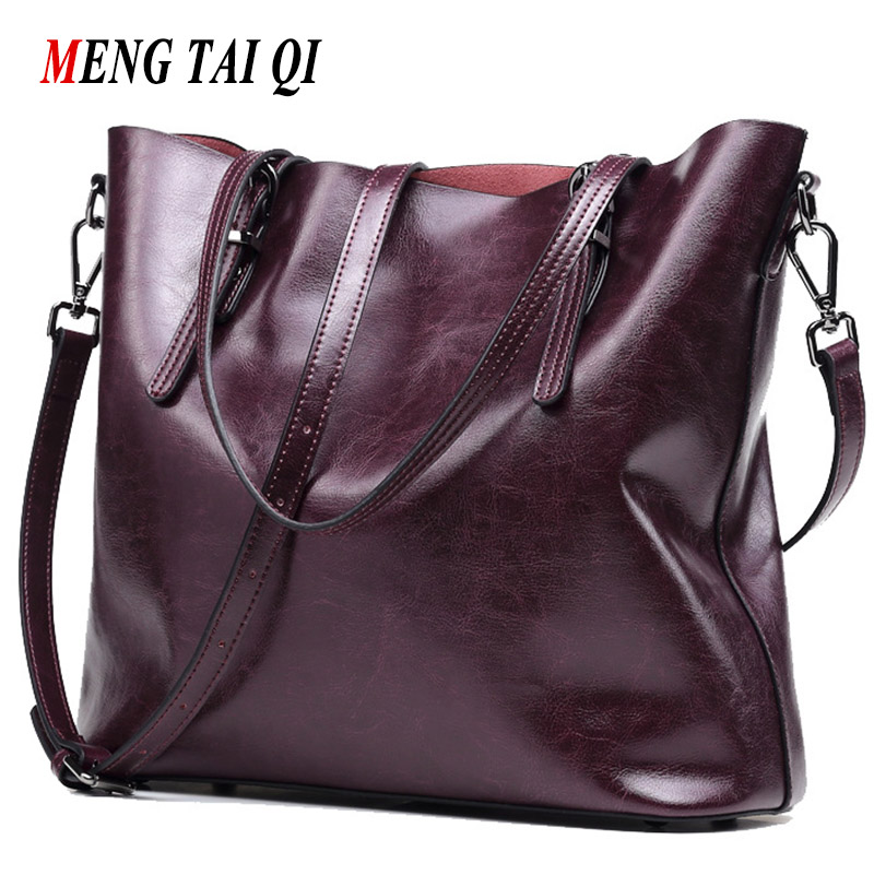 Genuine Leather Bags Women Handbags Real Leather Big Women Bag Luxury Brand 2017