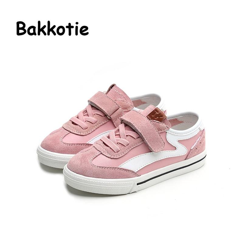 Bakkotie 2017 Spring Autumn White Children Casual Shoes Toddler Baby Girl Black Sport Sneaker Walking Trainer
