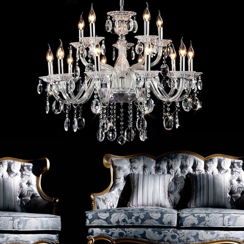 US $414.8 15% di SCONTO|Appendere le luci camera da letto lampadario led  illuminazione interna braccia di vetro lampadario classico supporto di ...