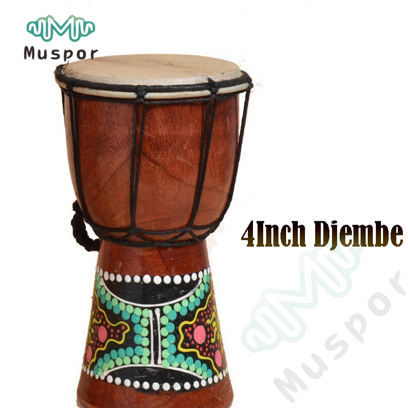 4 inch djembe drummer percussion kid classic painting wooden african style hand drum for. Black Bedroom Furniture Sets. Home Design Ideas