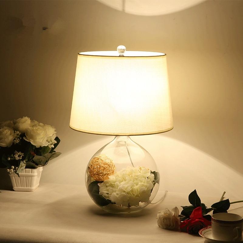 flores decorar cabeceira lâmpada de mesa noite