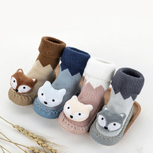 Baby shoe socks Autumn winter cotton thickened 0-1-3 years old baby Learn walk non-slip soft bottom children floor