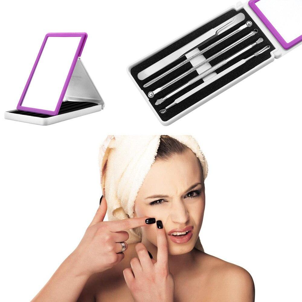 ISHOWTIENDA blackhead remover 5 Pcs blackhead extractor Pimple Blemish Comedone Acne extrator de cravo Remover Tool Set