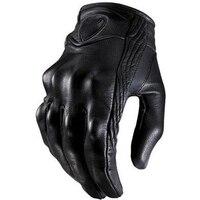 Goofit outdoor الرياضة قفازات سوداء جلد طبيعي كل موسم قفاز اللمس الحقيقي خرم الرجال سباق دراجات