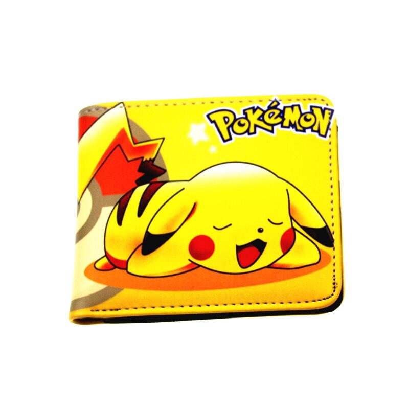 cartas pokemon and Pac-Man game purse carteira magica pu cartoon EMOJI face wallet kids present cion purse with zipper