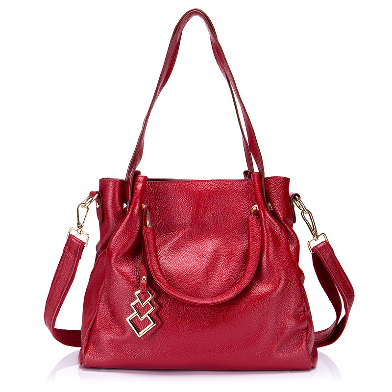 Handbags Women Genuine Leather Shoulder Bags First Layer Of Leather Bag Ladies Crossbody Bags New Product Female Messenger Bags zency new women genuine leather shoulder bag female long strap crossbody messenger tote bags handbags ladies satchel for girls