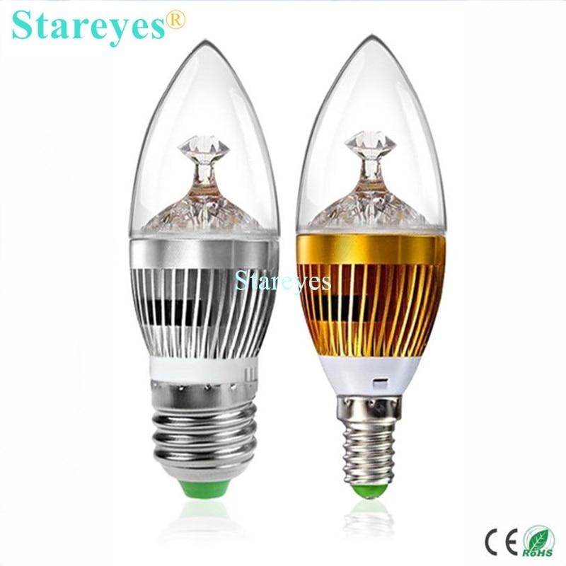 1 Piece Dimmable 3W 4W 5W E14 E27 High Power LED Candle Light Spotlight Bulb Pendant Lamp Chandelier Led Droplight Lighting