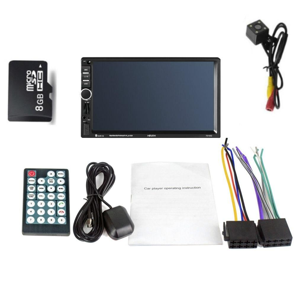 7018G 2 Din 7 pouces HD écran tactile autoradio multimédia lecteur MP5 Navigation GPS avec caméra et moyen orient cartes Bluetooth A - 2