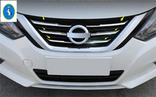 Yimaautotrims For Nissan Teana Altima 2016 2017 2018 Stainless Steel Front Central Grille Grill Lid Cover Trim 6 Piece / Set