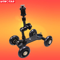 Details about Black DSLR Skater Wheel Camera Truck Top Dolly Kit +7 Articulate Magic Arm