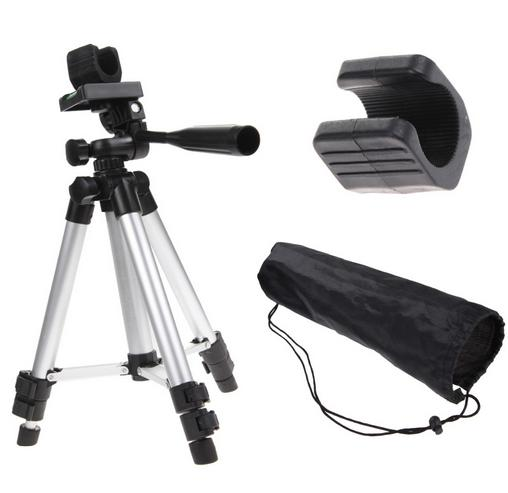 Professional Camera Camcorder Tripod Stand Holder With Fishlight Holder With Nylon Carry Bag