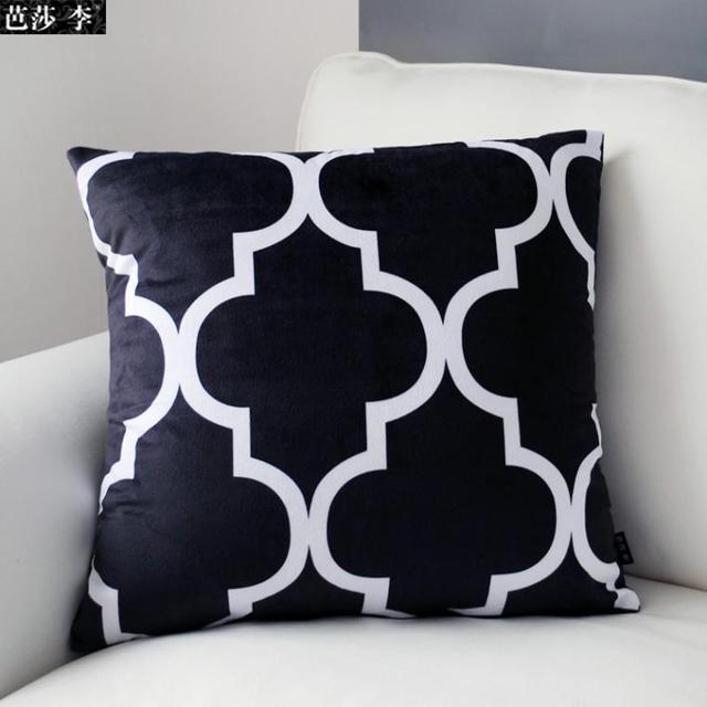 Moderne Kissen moderne gestreifte kissenbezug gemusterten kissen schwarz weiß