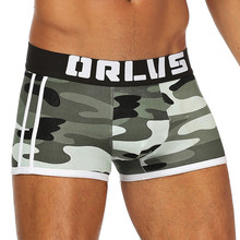 2021 New Sexy Boxer uomo intimo uomo mutande Boxer horts uomo Camouflage Mens Boxer Slip Boxer Shorts OR144