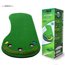 CRESTGOLF Indoor Golf Mats Putting Green Golf Practice Green Golf Training Aids with artificial turf and blanket for choice